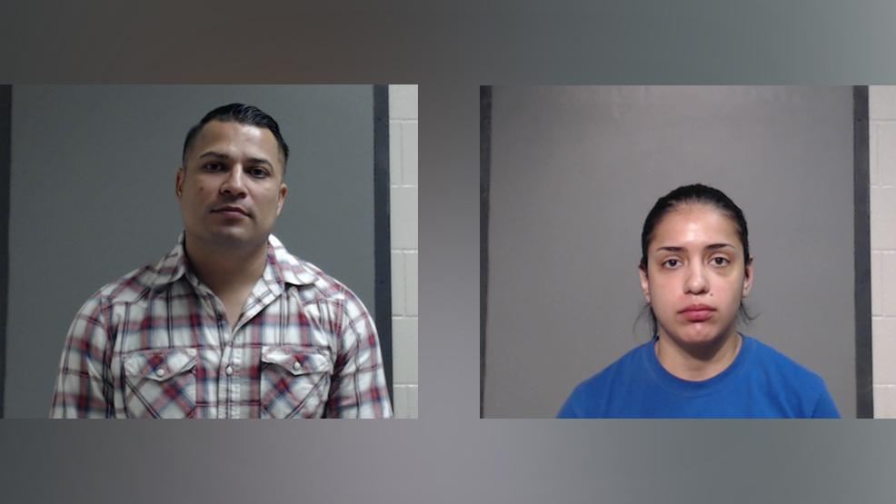 McAllen police Officer Michael Ray Basaldu, 37, of Edinburg and Emergency Communications Specialist Brianda Gabriela Arratia, 24, of Edinburg are charged with assault causing bodily injury, a Class A misdemeanor. (Photo courtesy of the Hidalgo County Sheriff's Office.)