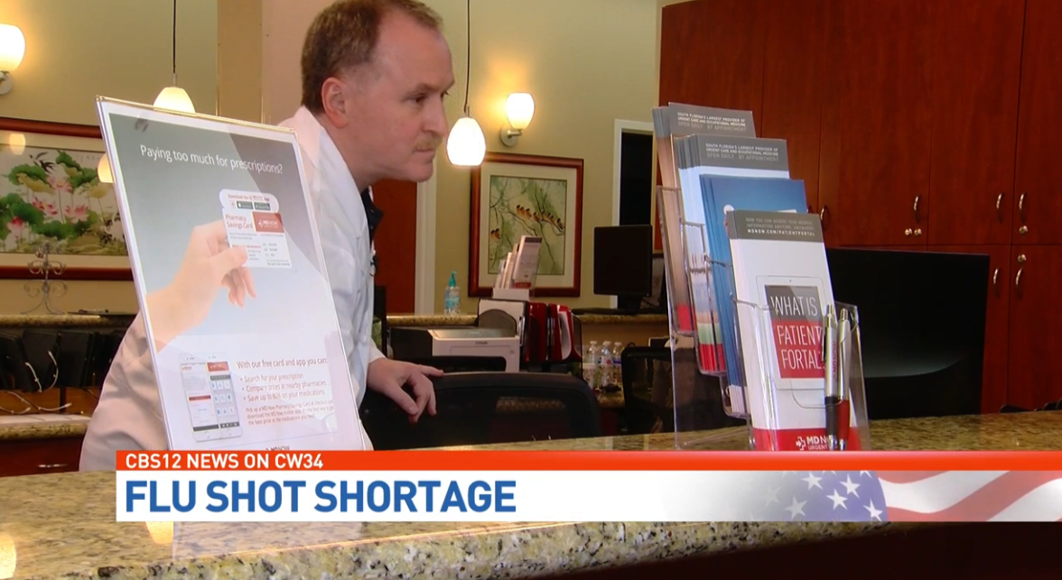 As flu vaccine is in high demand, doctor says supply could be getting low. (WPEC)