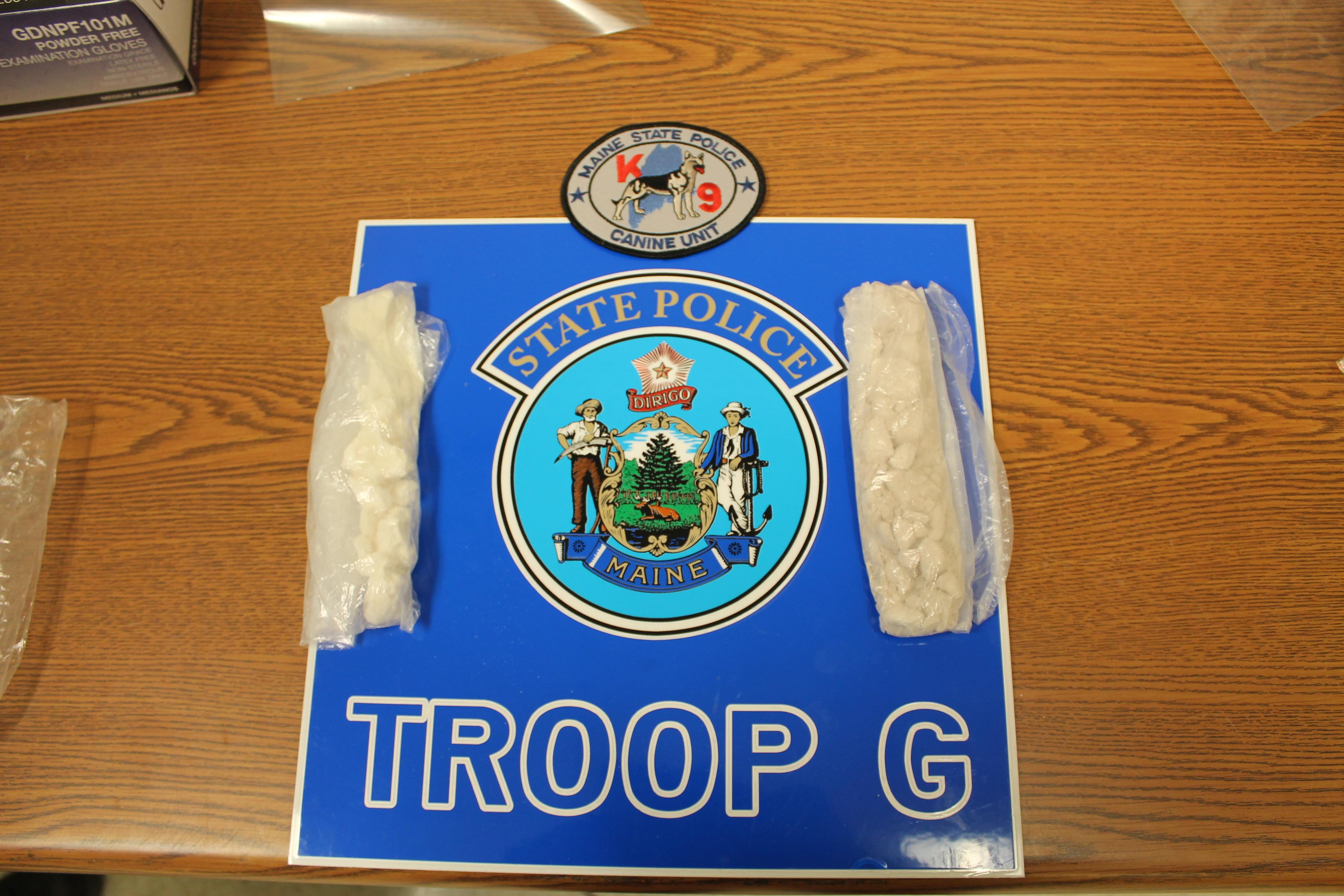 Troopers say they seized 51 grams of heroin and 31 grams of crack cocaine. (Maine State Police)<p></p>