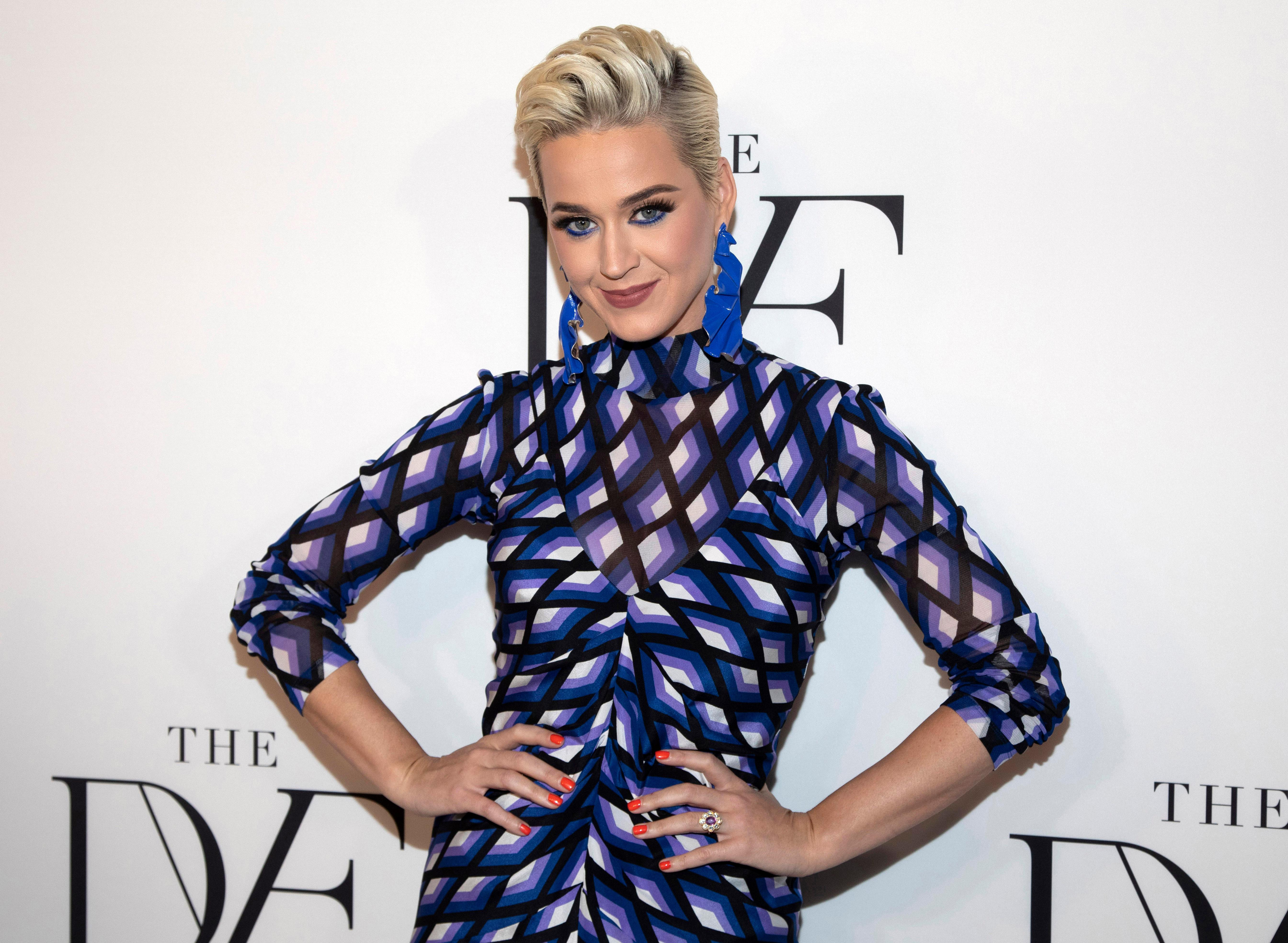 "FILE - This April 11, 2019 file photo shows Katy Perry at the 10th annual DVF Awards at the Brooklyn Museum in New York. A jury has found that Perry's 2013 hit ""Dark Horse,"" copied a 2009 Christian rap song. The nine-member federal jury in Los Angeles returned the unanimous verdict Monday, July 29, 2019. (Photo by Andy Kropa/Invision/AP, File)"