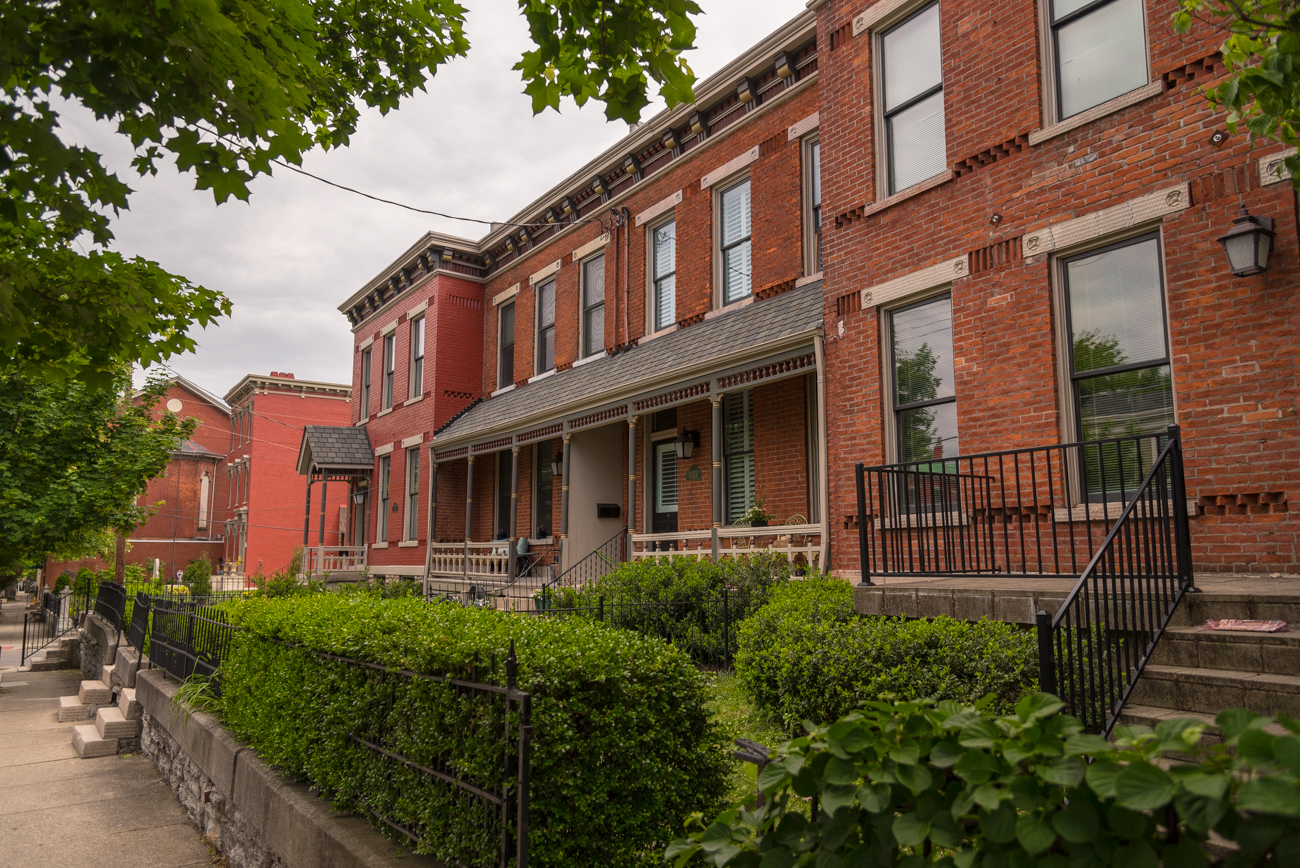 Old Seminary Square is named for the Western Baptist Theological Institute that once stood on the land in 1840. After the seminary was dissolved and sold in 1855, the land around it became a desirable place for people looking for a place to live beyond the immediate dangers of the easily-flooded Ohio River. Today, it's a thriving historic neighborhood. / Image: Phil Armstrong, Cincinnati Refined // Published: 5.7.17