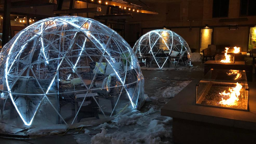 Surprise your sweetheart for Valentine's Day with an igloo experience