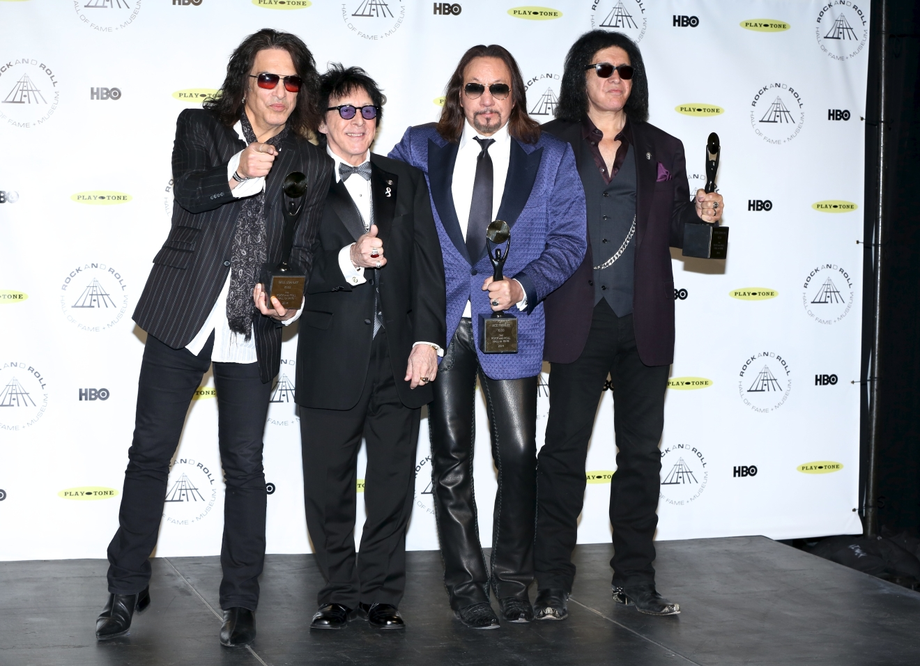 29th Annual Rock And Roll Hall Of Fame Induction Ceremony at Barclays Center of Brooklyn  Featuring: Paul Stanley,Peter Criss,Ace Frehley and Gene Simmons Where: New York, New York, United States When: 10 Apr 2014 Credit: Andres Otero/WENN.com
