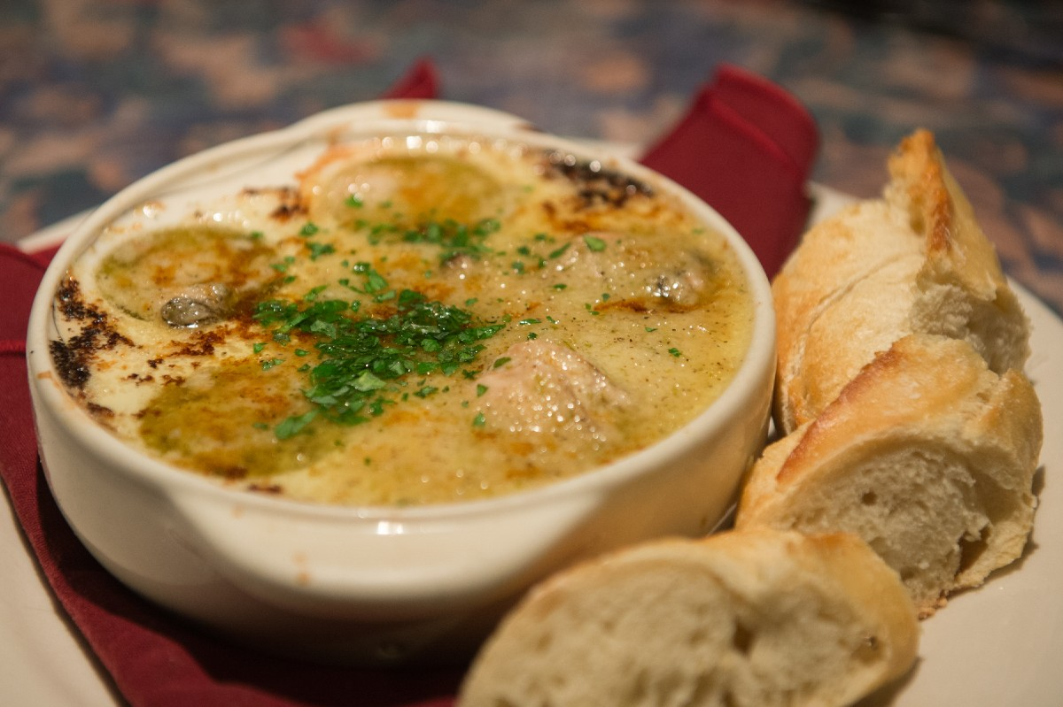 The Depot's Oyster 'Scargot are broiled in garlic lime butter and served with a French baguette. Seeing the source of the food gave us a whole new appreciation of it. (Image: Chona Kasinger / Seattle Refined)