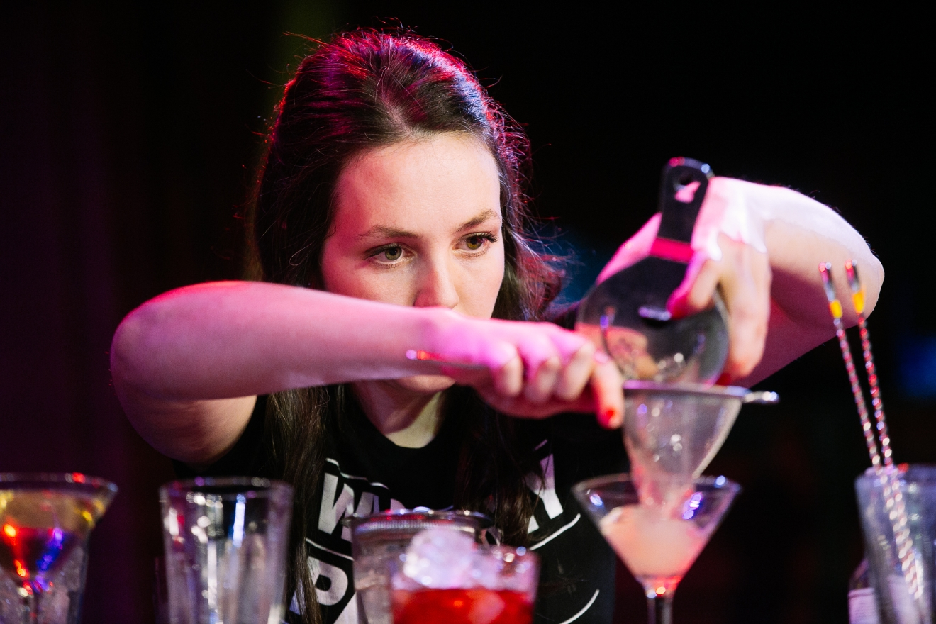 Female bartenders compete in Speed Rack 2016 to see who is the reigning bartender of Seattle. (Image: Joshua Lewis / Seattle Refined)