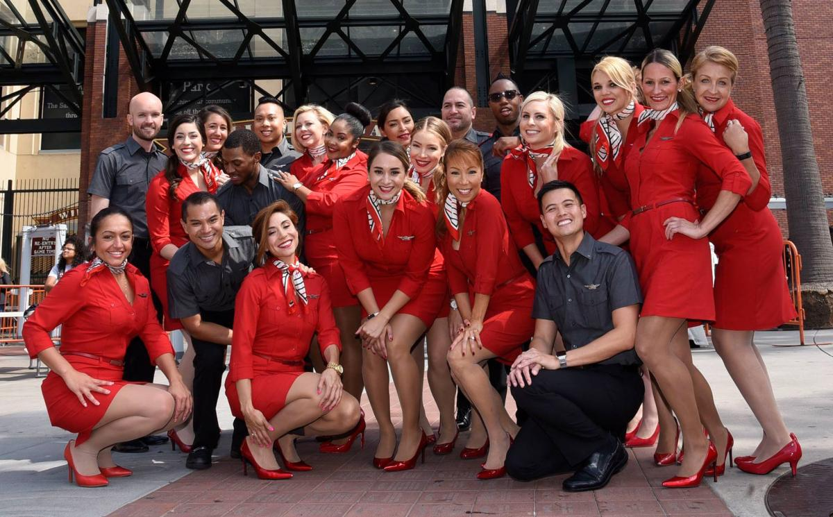Virgin America uniforms from the 2010s. Photo courtesy Alaska Airlines
