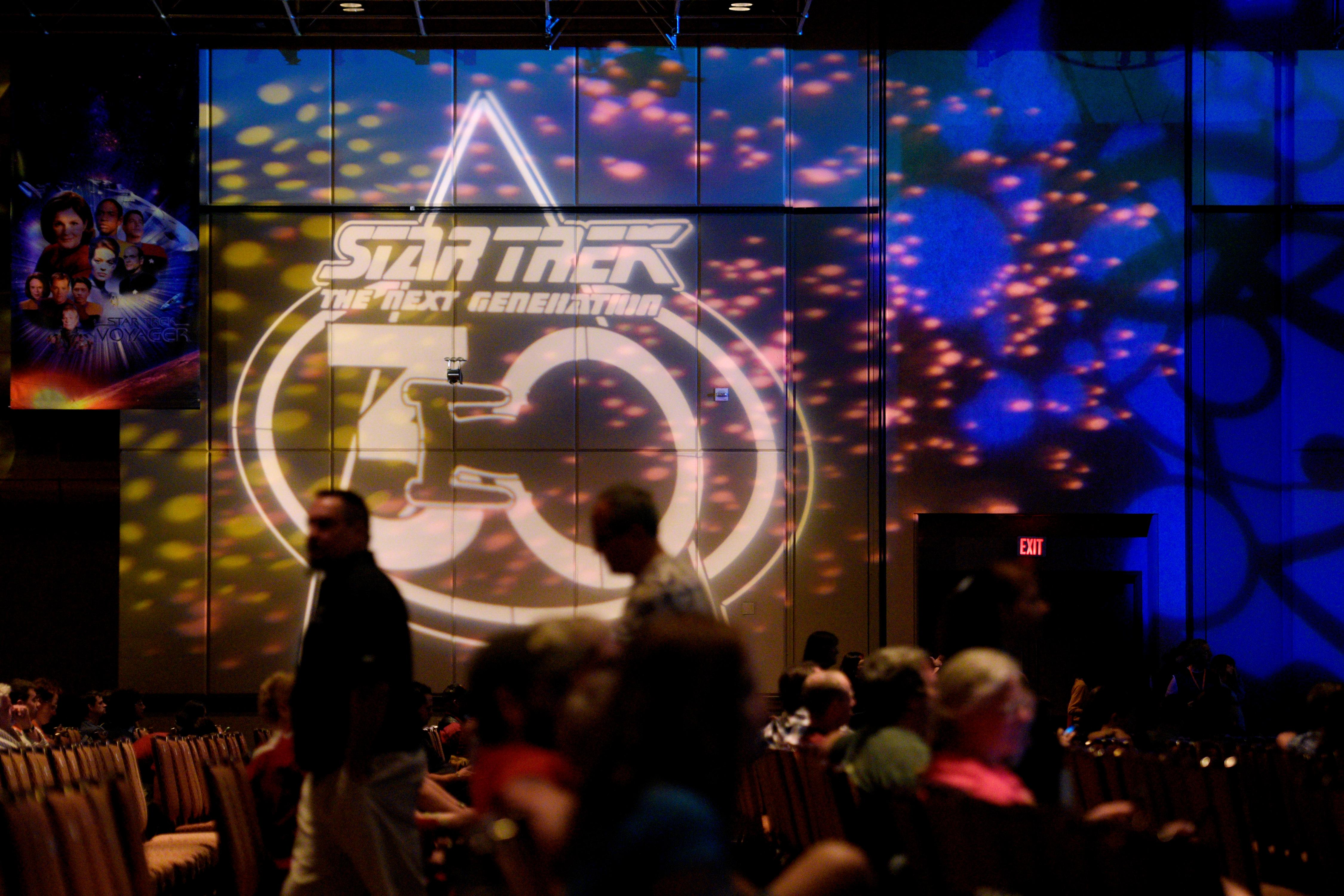 Projections mark the 30th anniversary of Star Trek: The Next Generation during the 16th annual Las Vegas Star Trek Convention Saturday, August 5, 2017, at the Rio.  CREDIT: Sam Morris/Las Vegas News Bureau