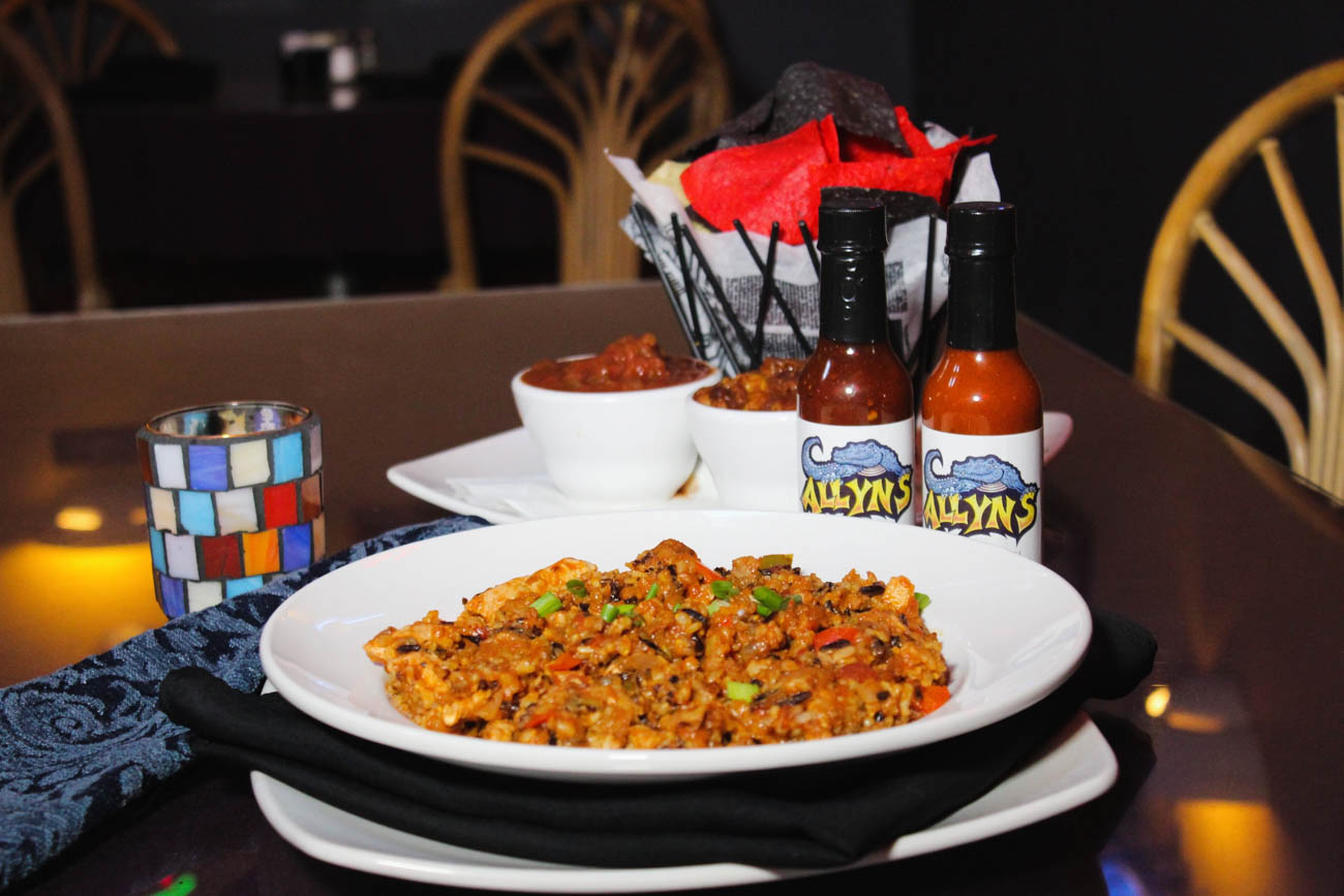 Vegan jambalaya from Allyn's Cafe / Image courtesy of Allyn's Cafe // Published: 5.18.19