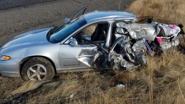 Police: Occupants critically injured in four-vehicle crash on I-84