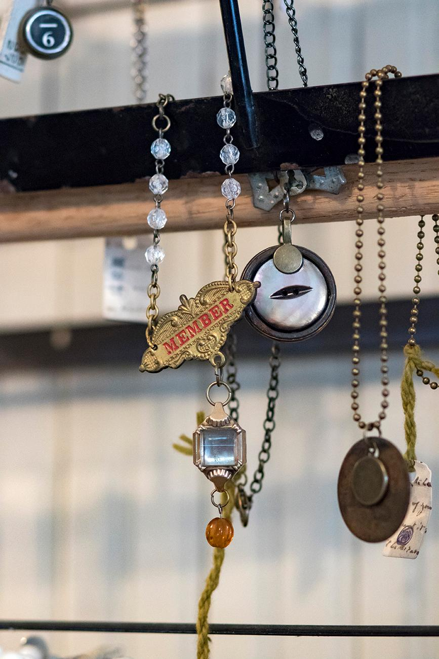 Handmade jewelry from local artist, Angie Millikan{ }/ Image: Allison McAdams // Published: 4.22.19