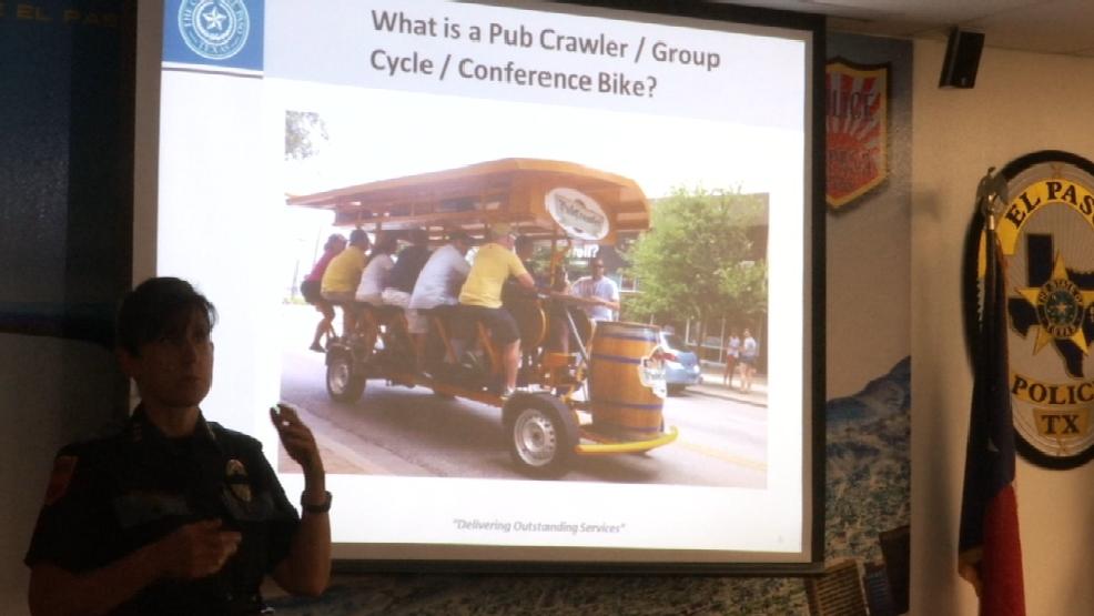 El paso police get feedback about potential pub crawler for Sun city motors el paso tx