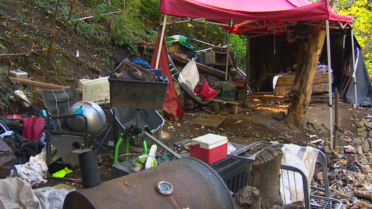 Officials begin cleanup of one of Seattle's longest running homeless encampments (KOMO Photo)