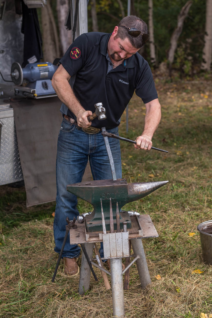 Josh Miller of A7 Forge Farrier Service / Image: Mike Menke // Published: 10.8.17
