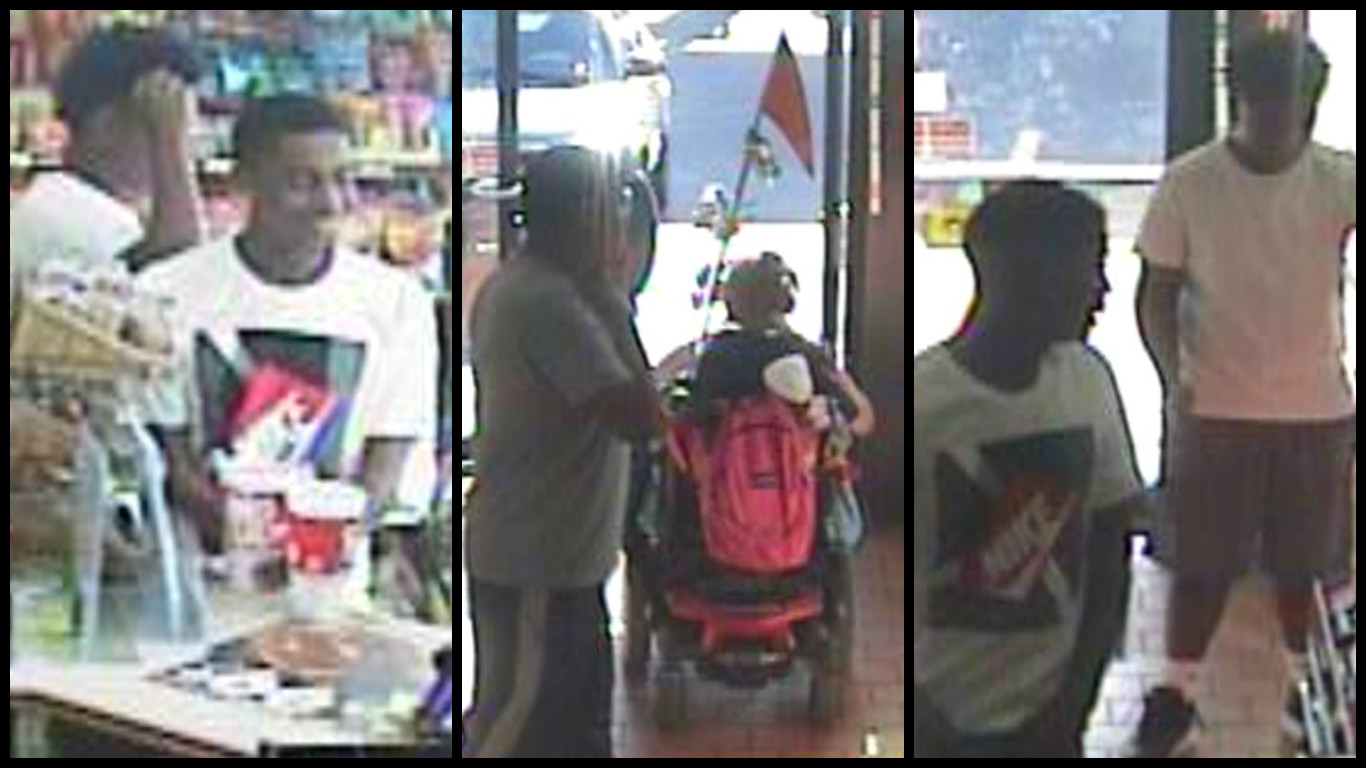 Oklahoma City police are looking for two males who reportedly cornered a wheelchair-bound woman and stole her purse. (Oklahoma City Police Department)