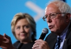 Bernie Sanders, Hillary in background AP502.jpg
