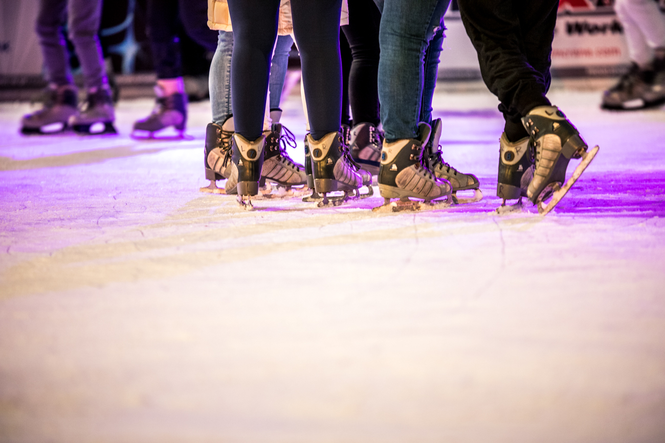 The UC Health Ice Rink presented by Fifth Third now features bumper cars on ice in addition to the traditional ice skating on Fountain Square. The rink, which is divided to accommodate skaters and cars, is open seven days a week. It will operate until February 15, 2021. / Image: Catherine Viox // Published: 12.20.20