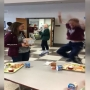 A promposal surprise leaves one student dancing in the cafeteria