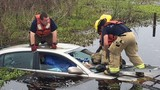 Alachua County firefighters rescue woman from car submerged in Paynes Prairie