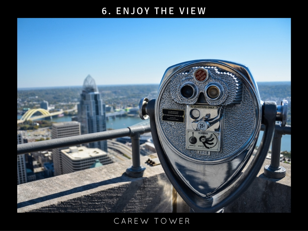 CINCY SUMMER BUCKET LIST ITEM #6: Enjoy a great view / WHERE: Carew Tower // IMAGE: Sherry Lachelle Photography
