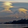 Mt. Rainier puts on spectacular show with multi-layered lenticular clouds