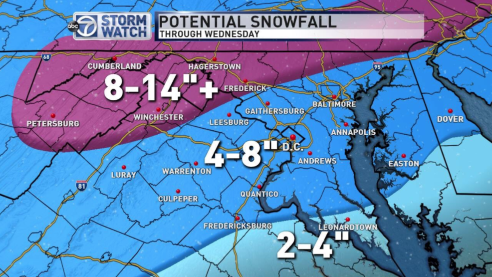 Higher Snowfall Totals In Dc Area Than Originally Expected Wjla