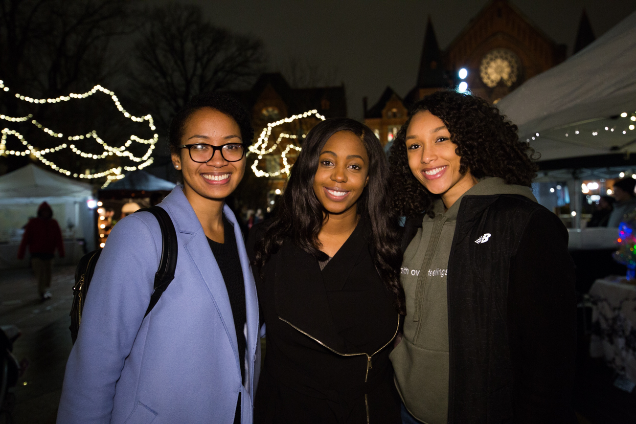 Brandi Mcghee, Jillian Ellis, and Sharde Pettis /{ }Image: Catherine Viox // Published: 12.16.18
