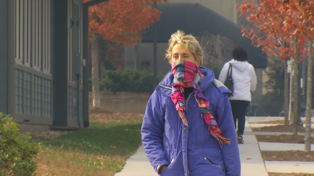 Code Red air quality is considered unhealthy and is forecast for much of Western North Carolina on Thanksgiving.   Code Purple, the lowest on the air quality index, has been forecast for McDowell County. (Photo credit: WLOS staff)