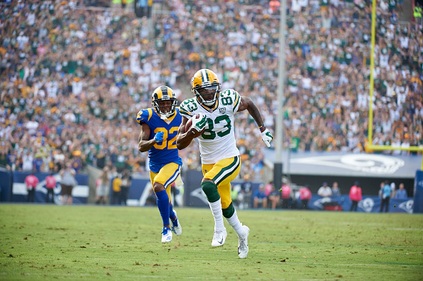 Valdes-Scantling is third on the team in receiving yards.