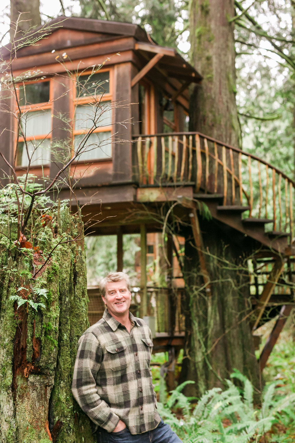 Pete Nelson, Master Treehouse Builder and star of the TV show Treehouse Masters has created special spots for people among the trees at Treehouse Point, 25 miles east of Seattle. (Photo Credit Nelson Treehouse and Supply )