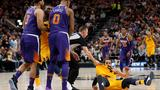 Mitchell, Gobert lead Jazz over Suns for 8th straight win