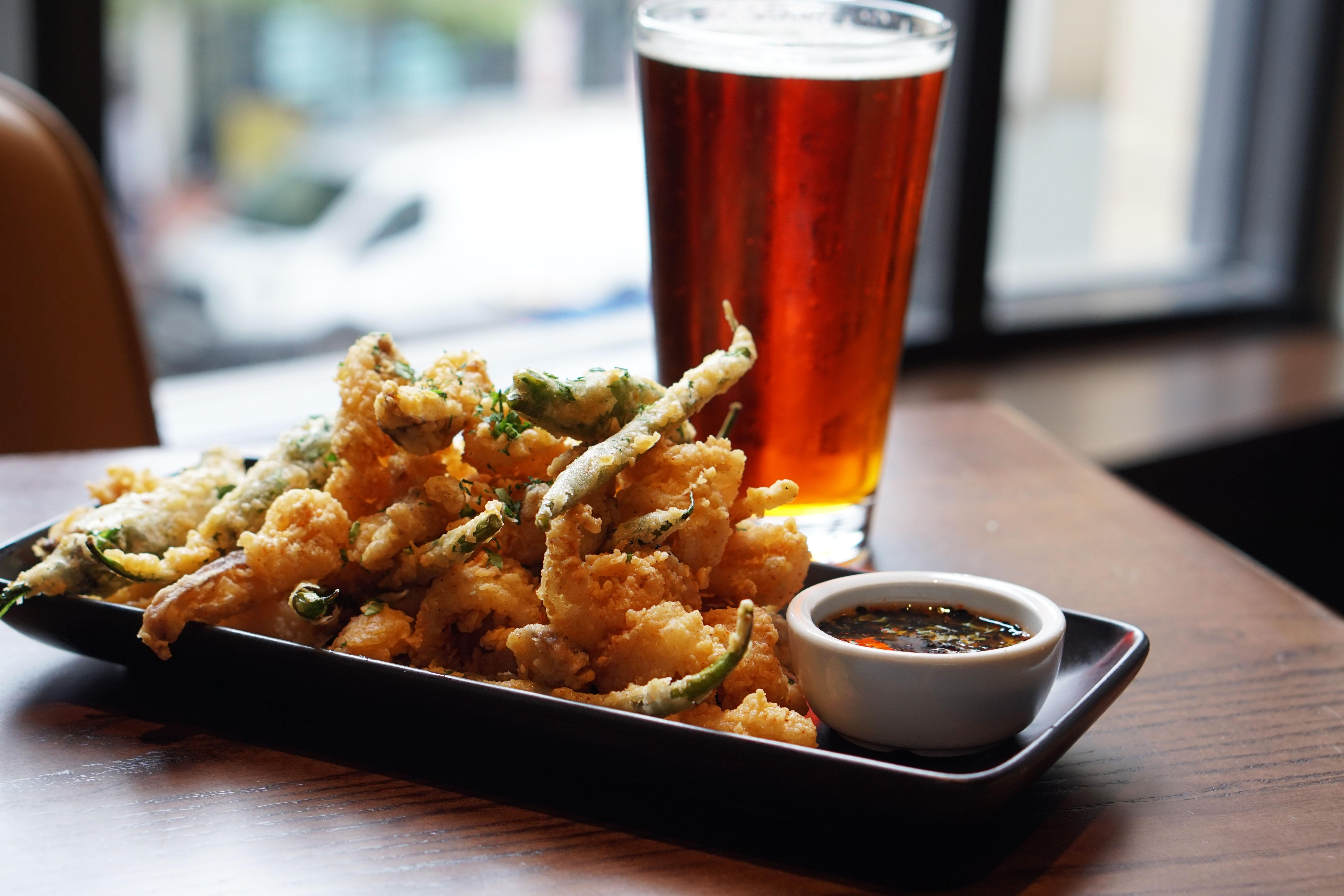 Kick back with some calamari and beer at Circa Navy Yard.{ }(Image: Courtesy  MHG)