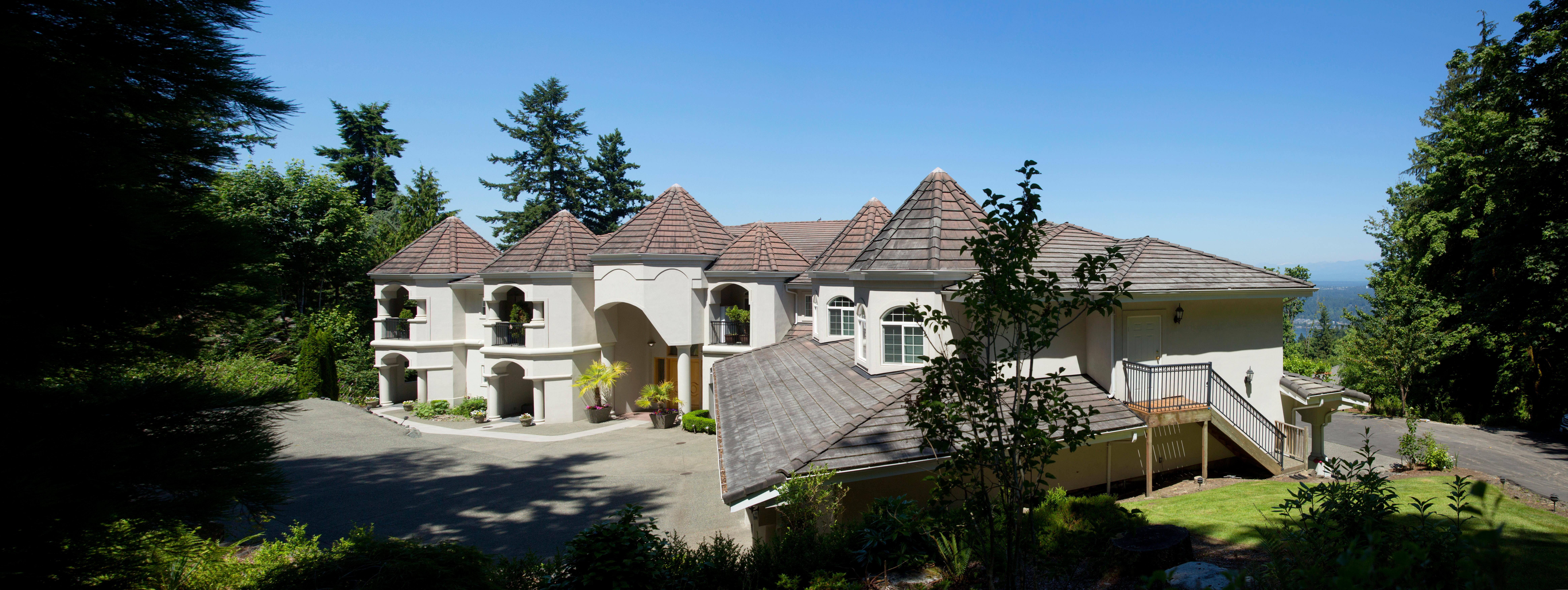 Listed by Realogic Sotheby's this Bollywood Mansion brings India inspired luxury to Bellevue. Listed at $5,999,950, the Bollywood Mansion is built for a large family - 13 bedrooms, 9 full baths, 1 partial bath, 15,360 square feet, and sits on 1.89 acres. Enjoy the gallery, this home is exquisite. (Image: Sy Bean / Seattle Refined)