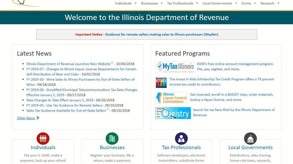 Illinois Department Of Revenue Revamps Website Wics