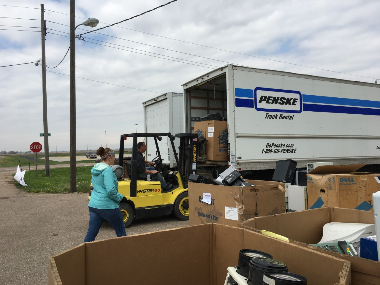 The electronics recycling day was put together by the Grand Island Area Clean Community System.
