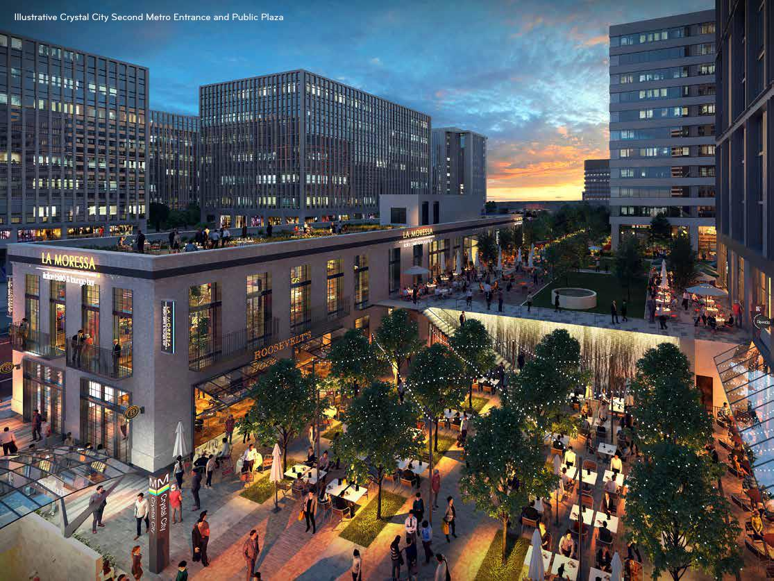 Crystal City second Metro entrance public plaza (Courtesy of JBG SMITH)