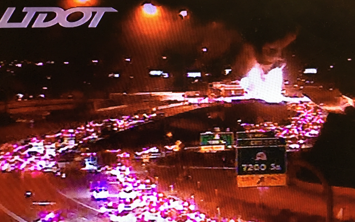 BREAKING: Double tanker vehicle explodes closing I-15 (Photo: UDOT)