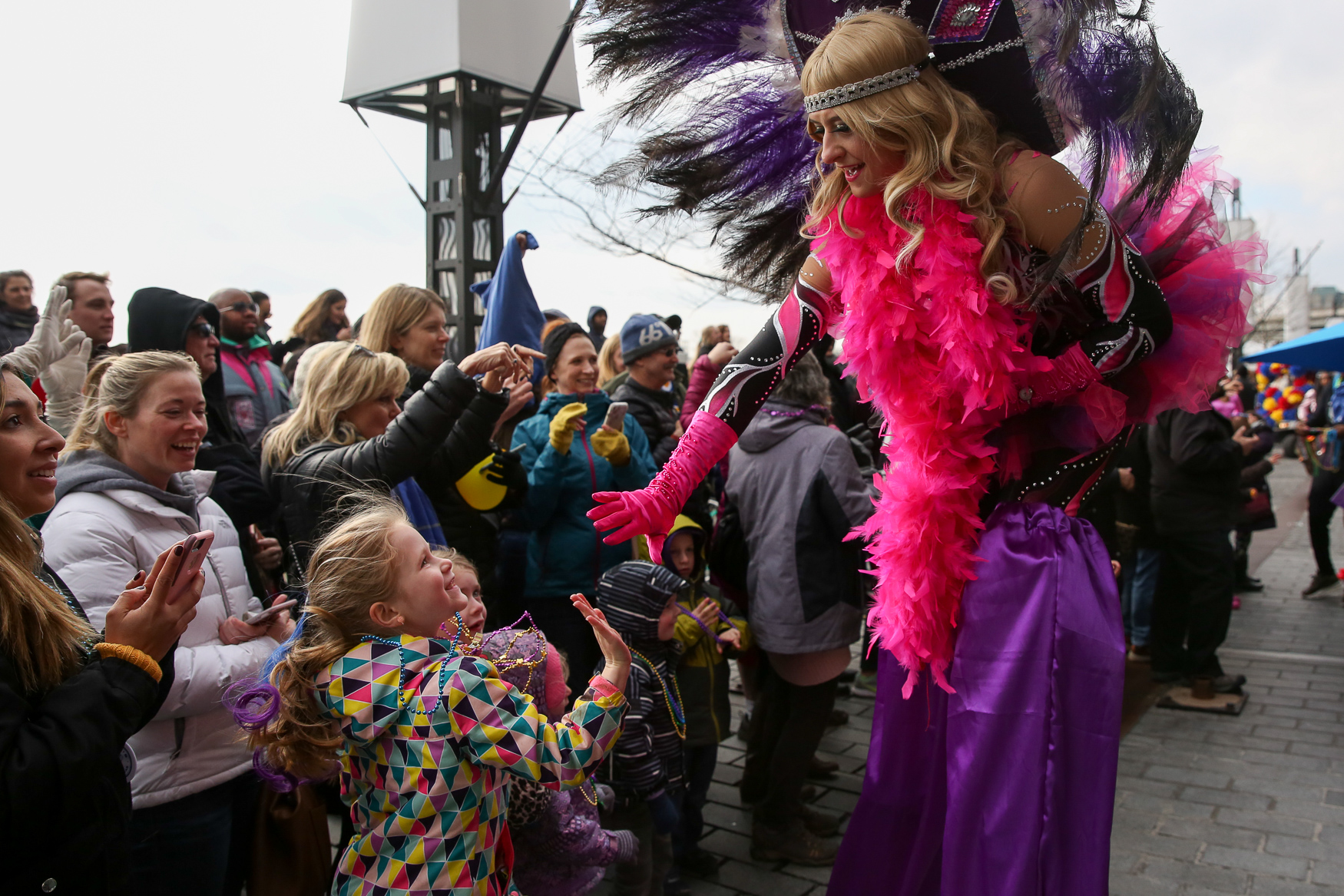 The Big Easy made its way to The Wharf on March 2 for the annual Mardi Gras parade. The acts including marching bands, feather-clad dancers and plenty of beads being thrown around. The parade only lasted a few blocks, but it was a family-friendly event that brought together thousands of people. (Amanda Andrade-Rhoades/DC Refined)