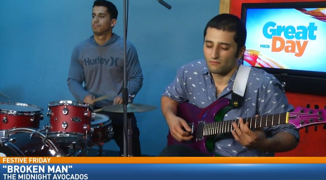 Local Blues/Jazz/Rock Band, The Midnight Avocados, performed in Great Day's Studio B for Festive Friday