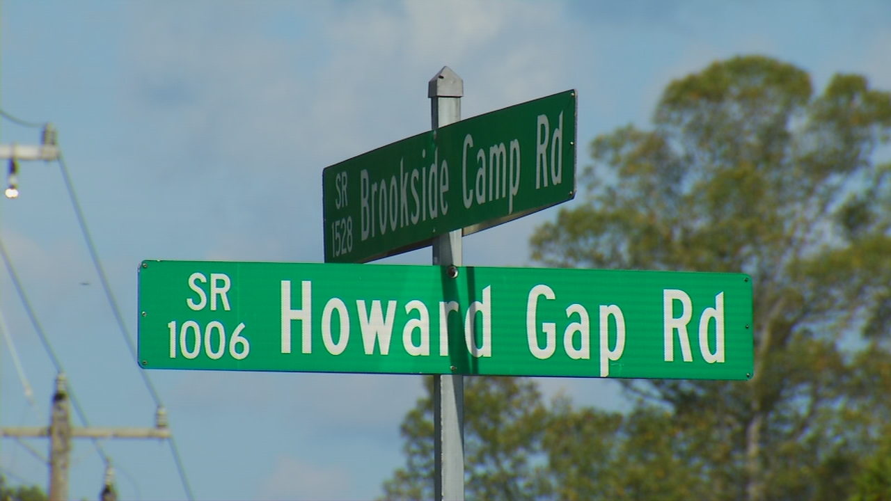 People who live along Howard Gap Road, near Brookside Camp Road, have a tight-knit community. When land clearing began at this intersection, resident Elsie Worthing contacted Ask 13 to find out what's being built. (Photo credit: WLOS Staff)