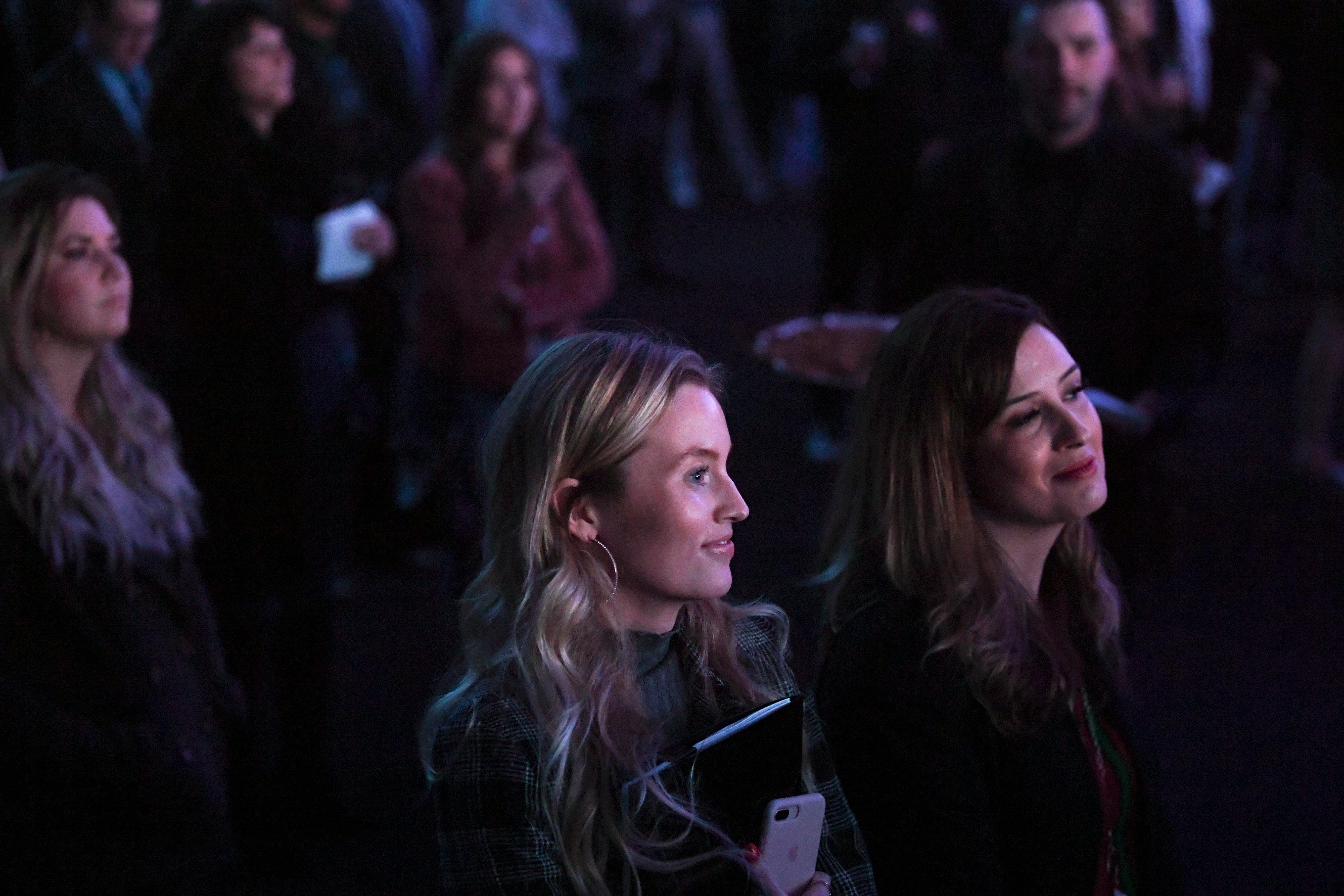 Invited guests watch a presentation during the unveiling of Derek Stevens' new project for Fremont Street, Circa Resort & Casino, Thursday, Jan 10, 2019, at the Downtown Las Vegas Events Center. (Sam Morris/Las Vegas News Bureau)