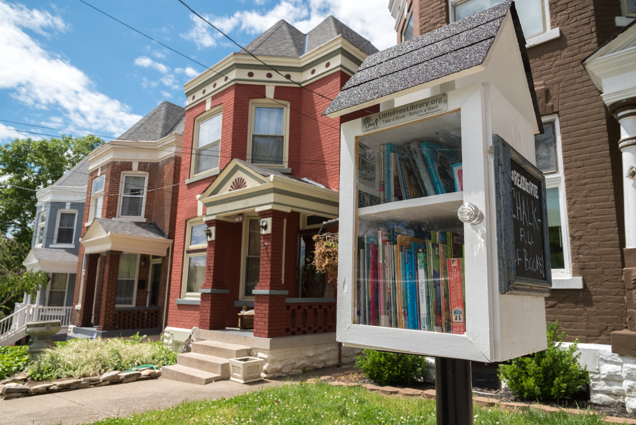 LOCATION: Across the street from Grandview Elementary School in Bellevue / ADDRESS: 407 Grandview Avenue (41073) / FUN FACT: According to the Little Free Libraries website, the owner stocks this library with fresh books each week. / IMAGE: Phil Armstrong, Cincinnati Refined // PUBLISHED: 5.3.17