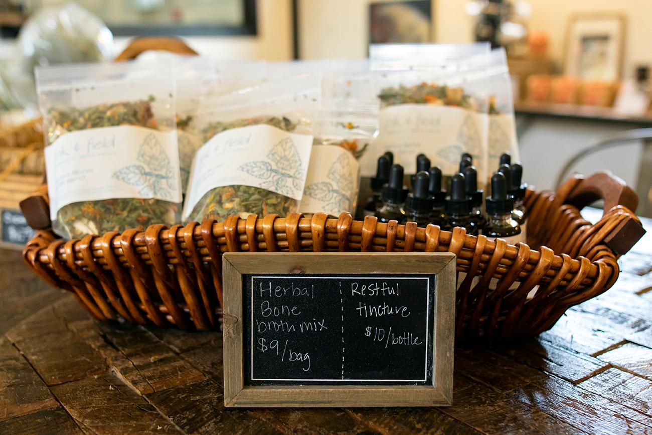 <p>Aberlin Springs maintains a medicine and herb garden to supply herbal teas and medicine in the store on-site. / Image: Allison McAdams{&nbsp;}// Published: 8.19.19</p>