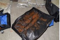 Douglas County Deputies say they found 110 lbs. worth of pot in{&amp;nbsp;} duffel bags inside a car during a traffic stop along I-80 and 13th Street in Omaha on December 2, 2017 around 7:10 a.m.<p></p>