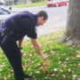 Caught on camera: Clovis police officer feeds friendly squirrel